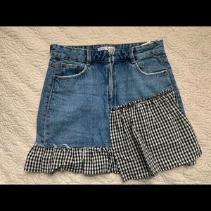 Small Checkered/ Jean Skirt